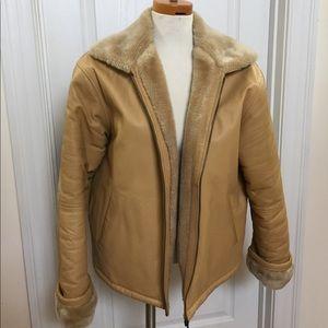 EUC Wilda Genuine Leather Very Warm Lined Coat